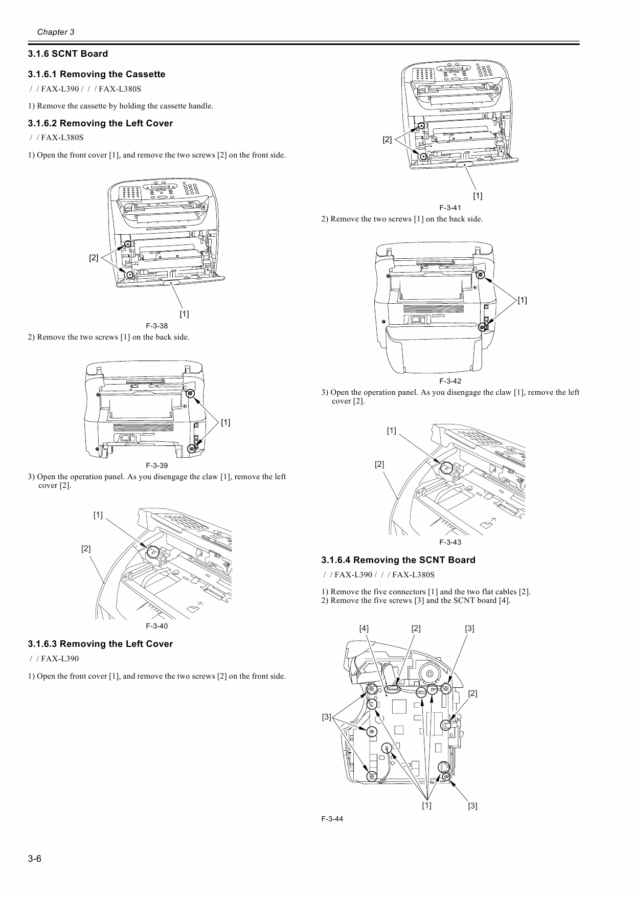 Canon FAX L380S L390 Parts and Service Manual